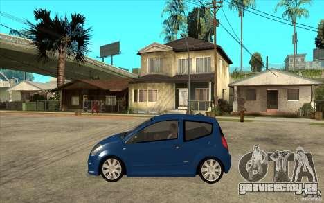 Citroen C2 - Stock для GTA San Andreas вид слева