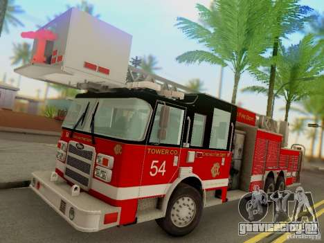 Pierce Tower Ladder 54 Chicago Fire Department для GTA San Andreas