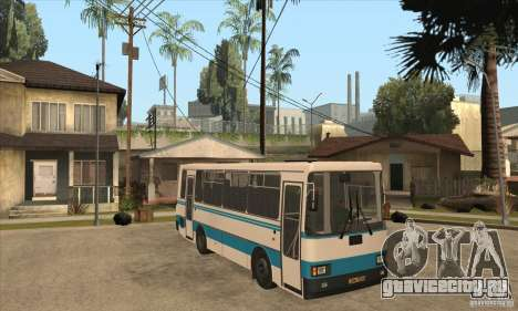 ЛАЗ А141 для GTA San Andreas вид изнутри