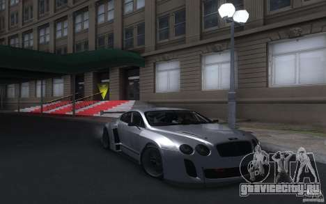 Bentley Continental Super Sport Tuning для GTA San Andreas вид сзади слева