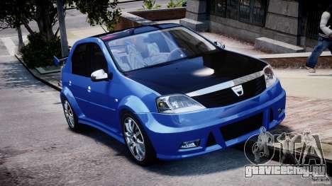 Dacia Logan 2008 [Tuned] для GTA 4 вид изнутри