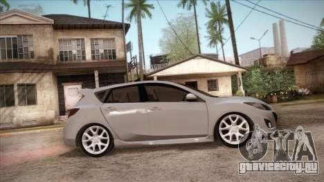 Mazda Mazdaspeed3 2010 для GTA San Andreas вид сверху
