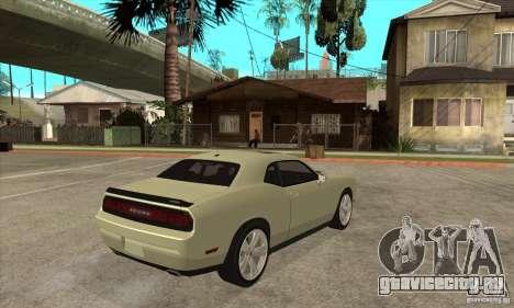 Dodge Challenger SRT8 2009 для GTA San Andreas вид справа