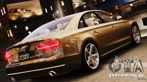 Audi A8 2010 V8 FSI для GTA 4 вид сзади