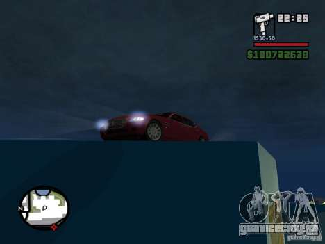 Maserati Quattroporte для GTA San Andreas вид справа
