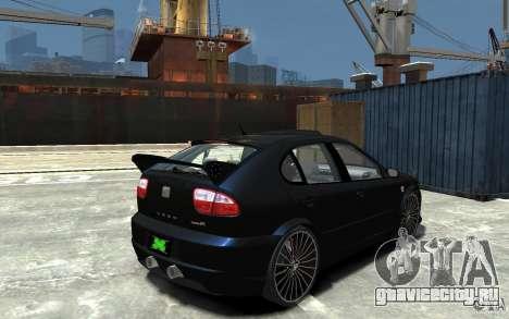 Seat Leon Cupra R для GTA 4 вид справа