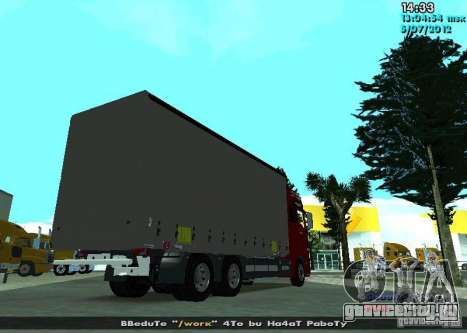 MAN TGL для GTA San Andreas вид сзади слева