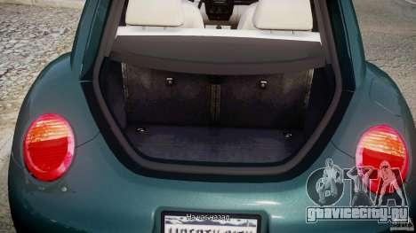 Volkswagen New Beetle 2003 для GTA 4 вид сбоку