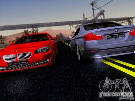BMW 550i 2012 для GTA San Andreas вид сбоку