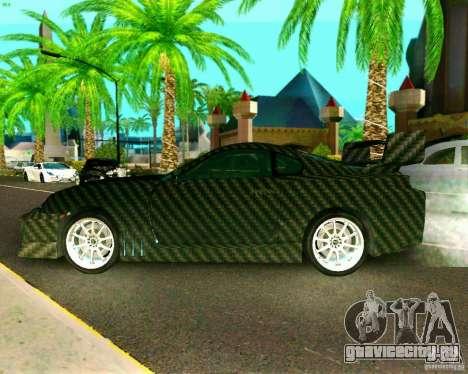 Toyota Supra Carbon для GTA San Andreas вид сзади слева