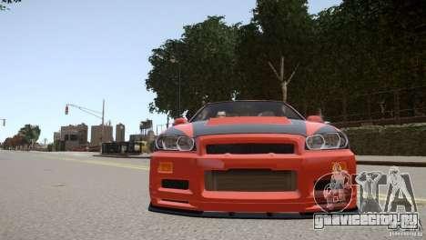 Nissan Skyline GT-R R34 Underground Style для GTA 4 вид сбоку