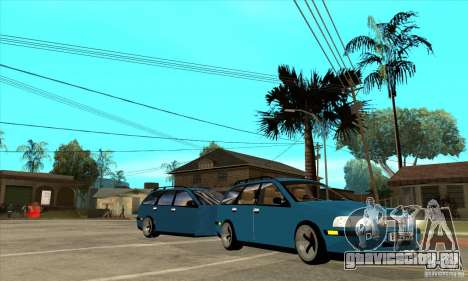 Volvo V40 Gespann для GTA San Andreas вид сзади