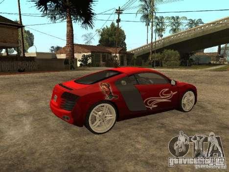Audi R8 для GTA San Andreas салон