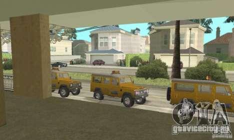 Land Rover Defender 110SW Taxi для GTA San Andreas вид справа