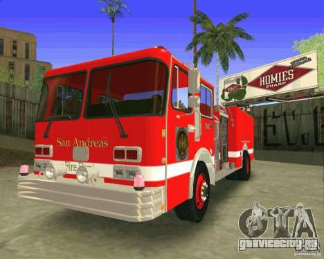Pumper Firetruck Los Angeles Fire Dept для GTA San Andreas вид изнутри