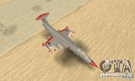 F-104 Super Starfighter(серого цвета) для GTA San Andreas вид справа