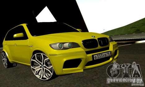 BMW X5М Gold для GTA San Andreas вид сзади слева