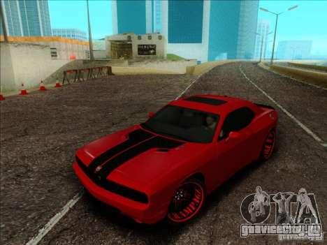 Dodge Quinton Rampage Jackson Challenger SRT8 v1 для GTA San Andreas вид изнутри