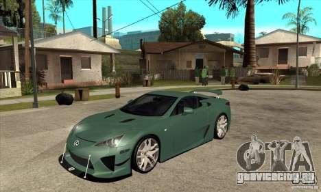 Lexus LFA 2010 для GTA San Andreas