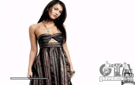 Экраны загрузки (Megan Fox) HD для GTA San Andreas второй скриншот