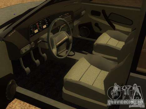 Ваз-2115 для GTA San Andreas вид сзади