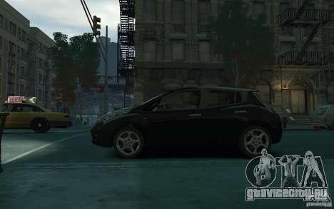 Nissan Leaf 2011 для GTA 4 вид слева