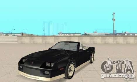 Chevrolet Camaro RS 1991 Convertible для GTA San Andreas
