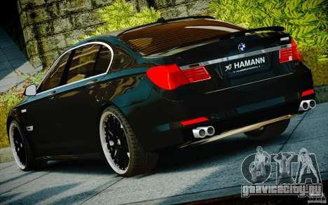 Bmw 750li Hamann для GTA 4 вид изнутри