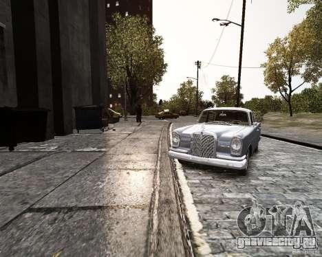 Mercedes-Benz W111 для GTA 4 вид справа