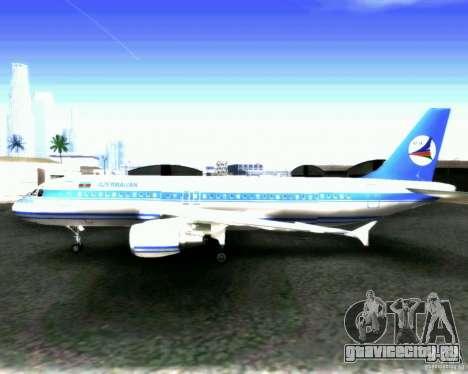 Airbus A-320 Azerbaijan Airlines для GTA San Andreas вид изнутри