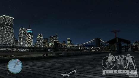 Скейтборд №2 для GTA 4 вид сзади слева