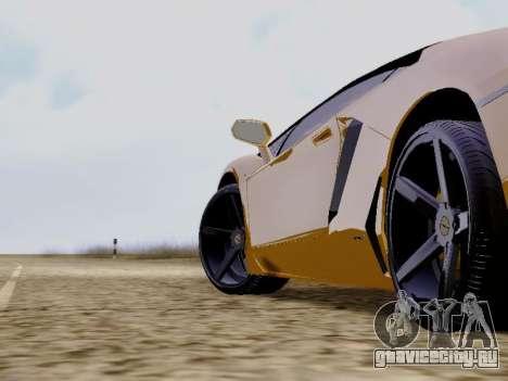 Lamborghini Aventador LP700-4 Vossen для GTA San Andreas вид справа