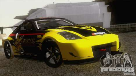 Nissan 350Z Rockstar для GTA San Andreas вид сзади