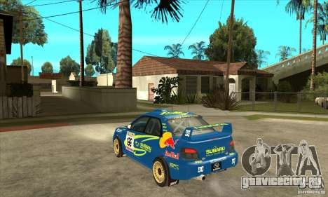 Subaru Impreza STi WRC wht2 для GTA San Andreas вид сзади