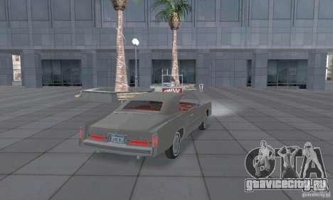 Cadillac Eldorado Convertible 1976 для GTA San Andreas вид сзади слева