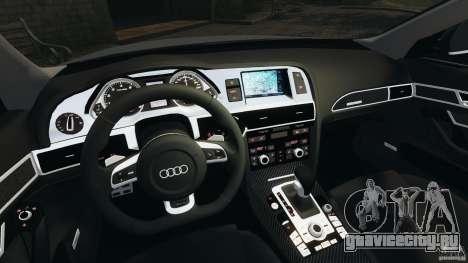 Audi RS6 2010 v1.1 для GTA 4 вид сзади