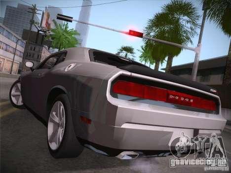Dodge Challenger SRT8 v1.0 для GTA San Andreas вид сзади слева
