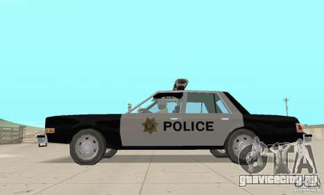 Dodge Diplomat 1985 Police для GTA San Andreas вид справа