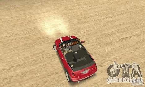 Mini Cooper Convertible для GTA San Andreas вид сзади слева