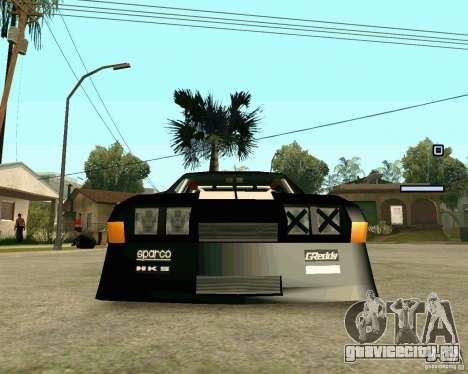 Hotring Racer Tuned для GTA San Andreas вид изнутри