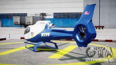 Eurocopter EC 130 NYPD для GTA 4 вид сзади слева