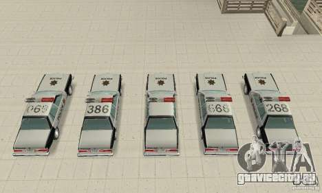 Dodge Diplomat 1985 Police для GTA San Andreas вид изнутри