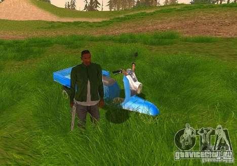 Мотороллер Муравей Турист-М для GTA San Andreas вид сзади