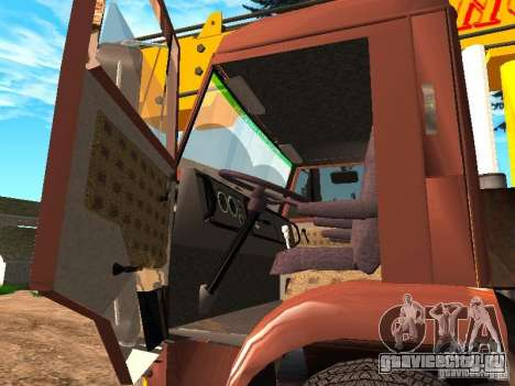 КамАЗ 6520 КС3577-3К Ивановец для GTA San Andreas вид изнутри