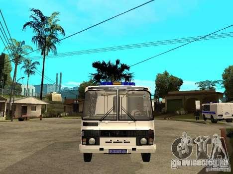 ПАЗ 3205 Милиция для GTA San Andreas вид справа