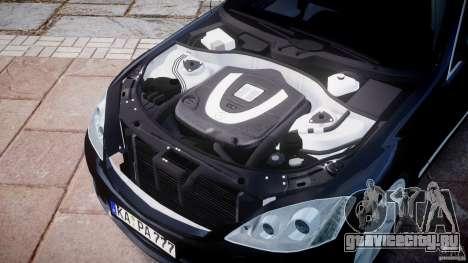 Mercedes-Benz S600 w221 для GTA 4 вид изнутри