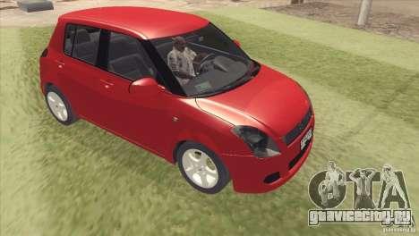Suzuki Swift versión Chilena для GTA San Andreas вид сзади слева
