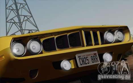 Plymouth Hemi Cuda 426 1971 для GTA San Andreas салон