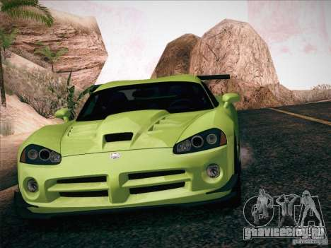 Dodge Viper SRT-10 ACR для GTA San Andreas салон
