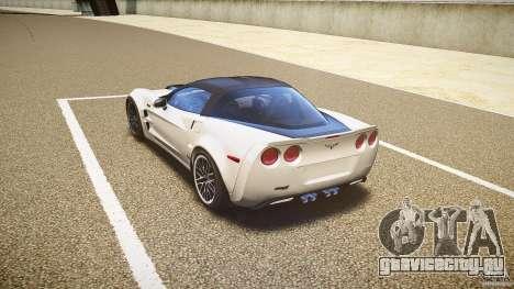 Chevrolet Corvette ZR1 2009 для GTA 4 вид сзади слева